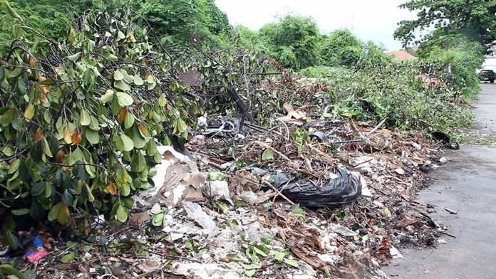 South Pattaya residents are complaining that the city has ignored growing piles of garbage outside Soi Penpak Village.