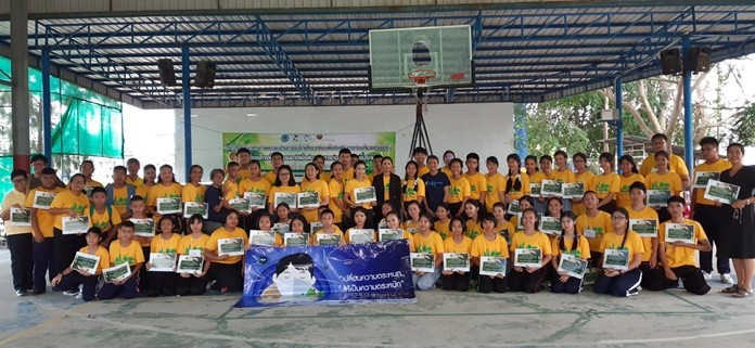 Students from eight Pattaya-area schools learned how to better protect the environment at a camp at Banglamung School.