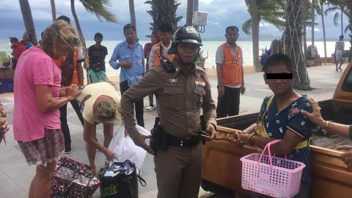 Decha Subbud has been arrested for stealing a German tourist's handbag.