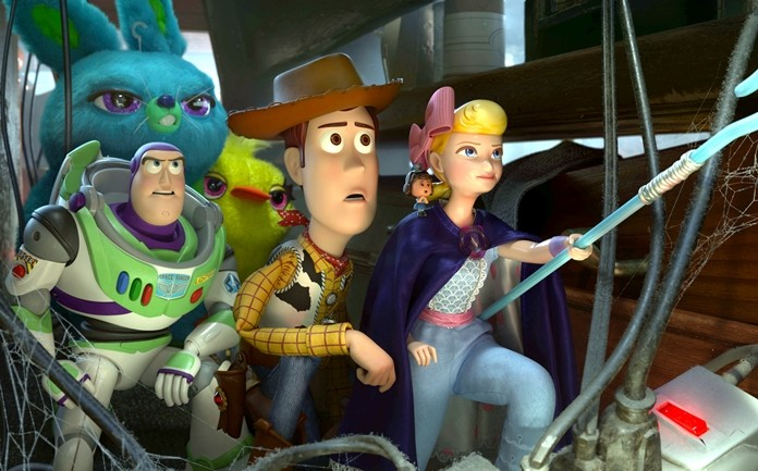 "This image shows a scene from the movie ""Toy Story 4."" (Disney/Pixar via AP)"