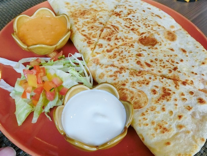 So that's what a quesadilla looks like. (Photos by Marisa Corness)