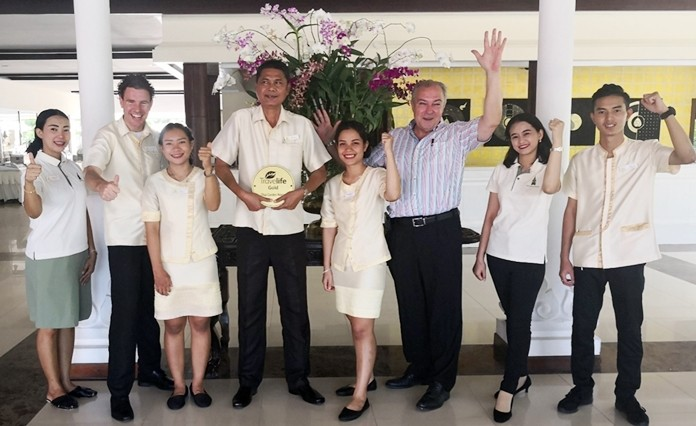 Rene Pisters, the General Manager of the Thai Garden Resort, and his dedicated team have a great reason to celebrate.