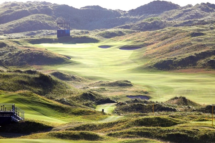 Royal Portrush Golf Club in Northern Ireland is shown in this Saturday, July 6, 2019 photo.(AP Photo/Peter Morrison)