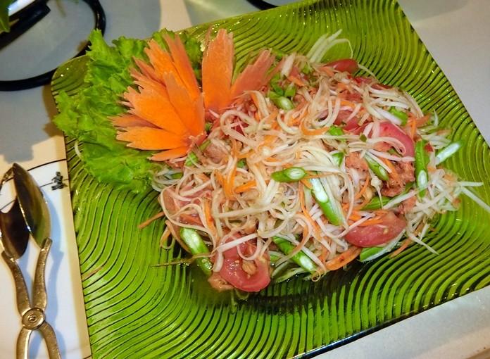 The traditional Thai Som Tam.