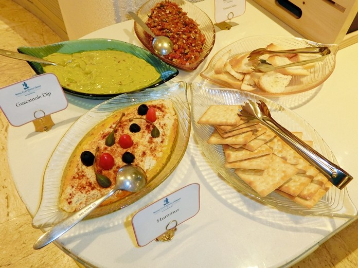 Appetisers include Guacamole Dip, Hummus and Tomato Salsa.