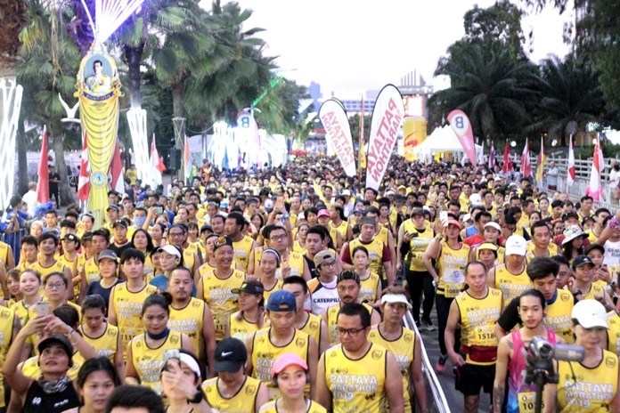Thousands of runners from Thailand and across the world joined this year's Pattaya marathon.