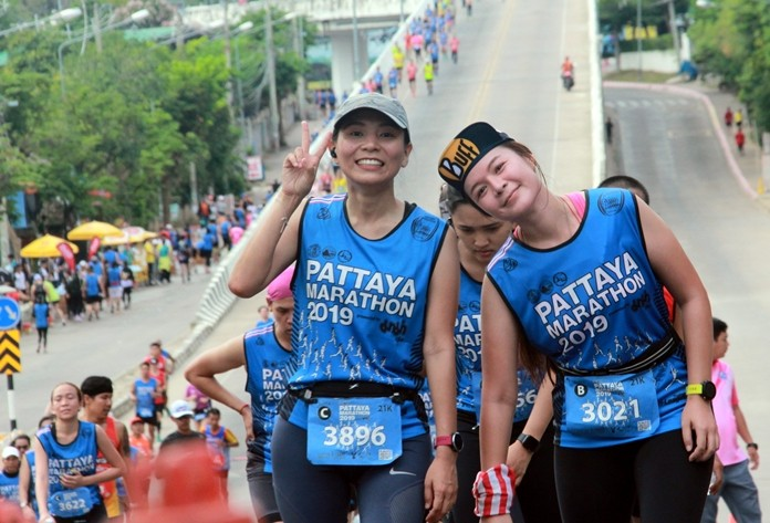 Pattaya's streets were turned into a sea of color a runners spread out far and wide across the city on Sunday, July 21.