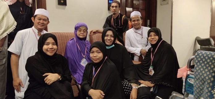 Mrs. Noh Lanai, aged 102, is the oldest pilgrim at the 2019 Hajj.