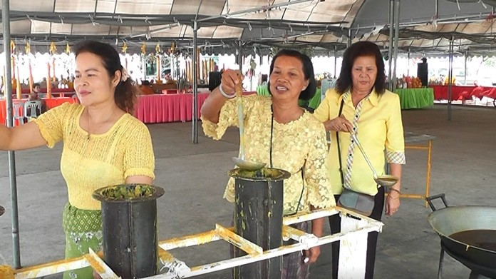 Wat Chaimongkol is inviting Pattaya residents to make candles from July 9-18 to send to 30 temples in Sa Kaeo.