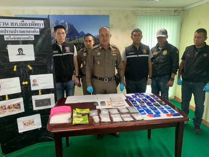 Pattaya's police chief, Pol. Col. Prawit Chosang announces the capture of Thada Komolman, Noppadol Jankot, and Kantapat Santinorasak in separate arrests.