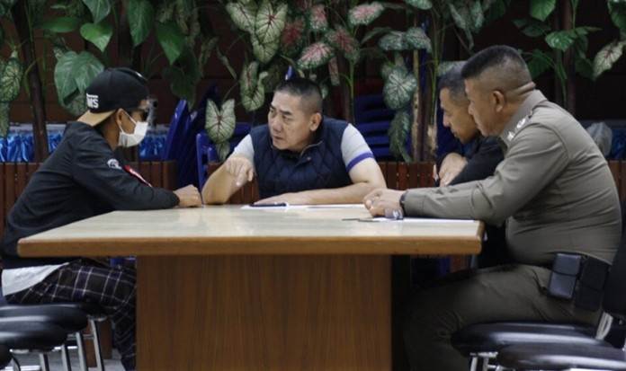 Pol Gen Chakthip Chaijinda interrogates a suspect in the Bangkok bombings last week.