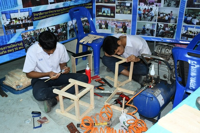 Students get both basic and vocational skills education.