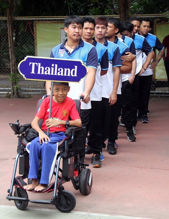 Team Thailand led by the youngest student at the college.