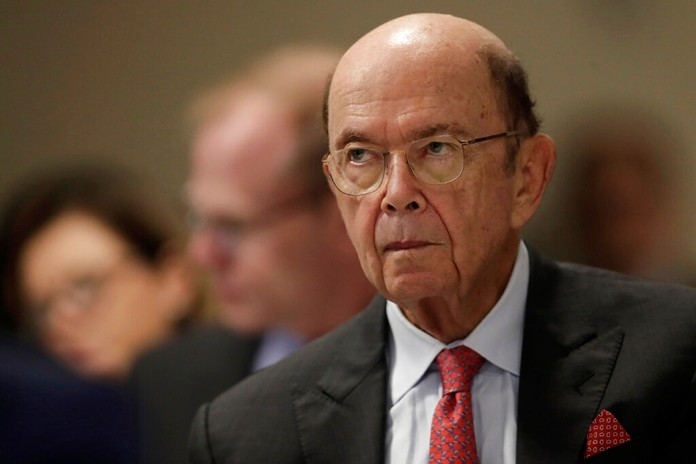 In this Aug. 1, 2019, file photo U.S. Commerce Secretary Wilbur Ross attends a meeting of the 17th Latin American Infrastructure Leadership Forum, in Brasilia, Brazil. The U.S. government gave chipmakers and technology companies a 90-day extension to sell products to technology giant Huawei. (AP Photo/Eraldo Peres, File)