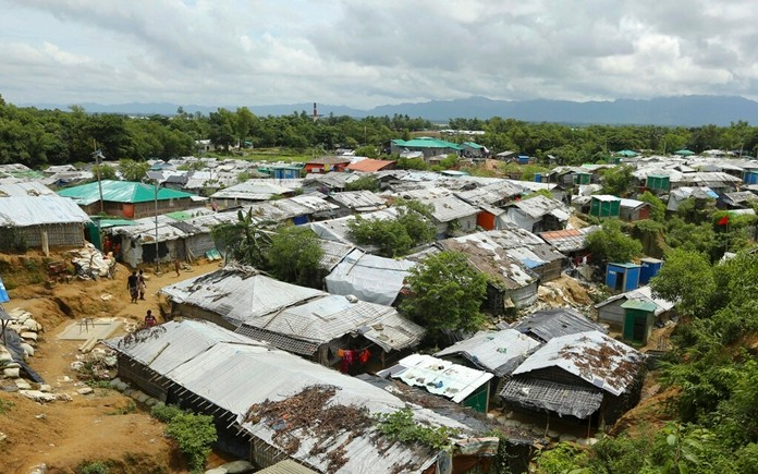 A general view of Nayapara Rohingya refugee camp in Cox's Bazar, Bangladesh Thursday, Aug.22, 2019. (AP Photo/Mahmud Hossain Opu, FILE)