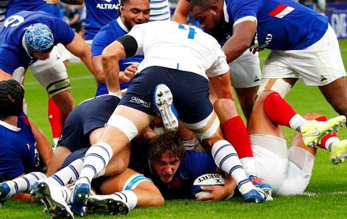 France ease past Italy in World Cup Warm up