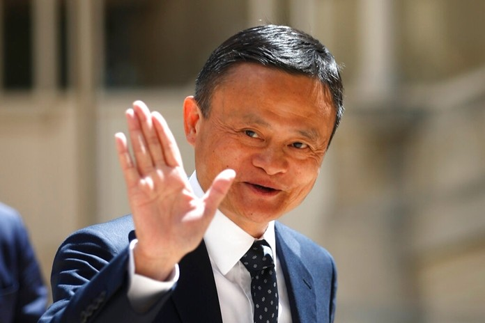 In this May 15, 2019, file photo, founder of Alibaba group Jack Ma arrives for the Tech for Good summit in Paris. (AP Photo/Thibault Camus)