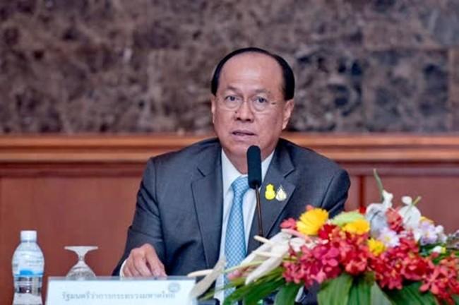 Interior Minister Gen Anupong Paochinda.