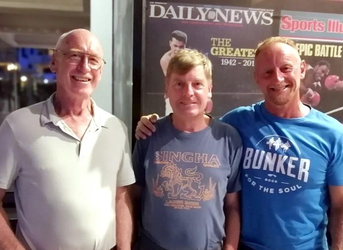 (From left) Ray Daws, Frank Grainger and Nik Evans.