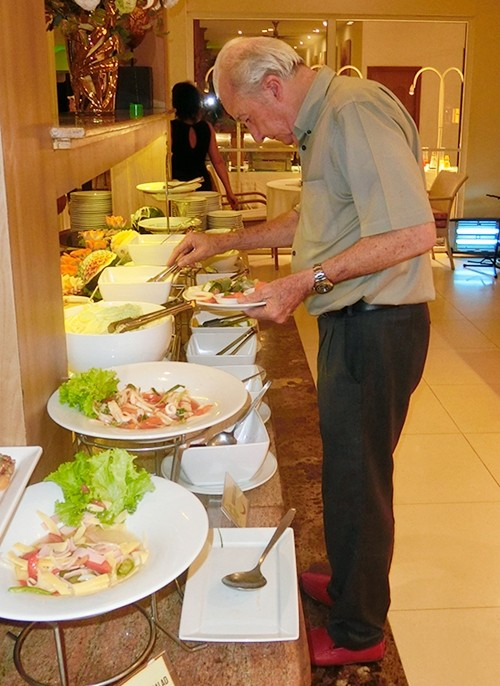 With buffets, I always suggest you do a tour of the buffet tables first before choosing.