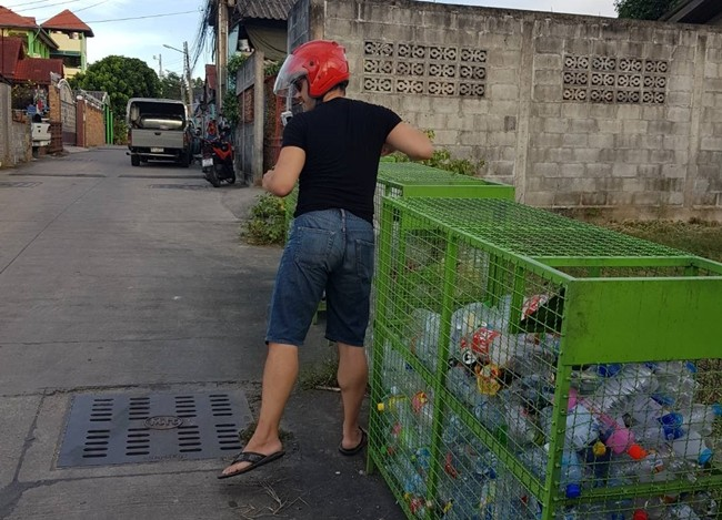 Both locals and foreigners living within the area have taken to the new recycling regimen at the Baan Nern Rodfai community in North Pattaya