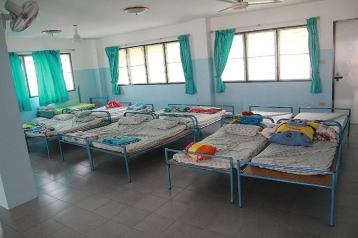 The colourful new beddings for the children.