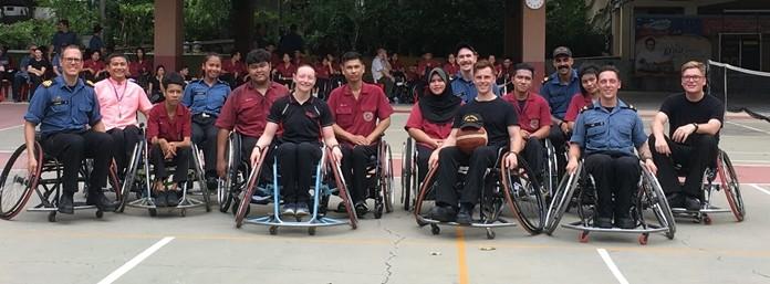 Wheelchair basketball, not easy.