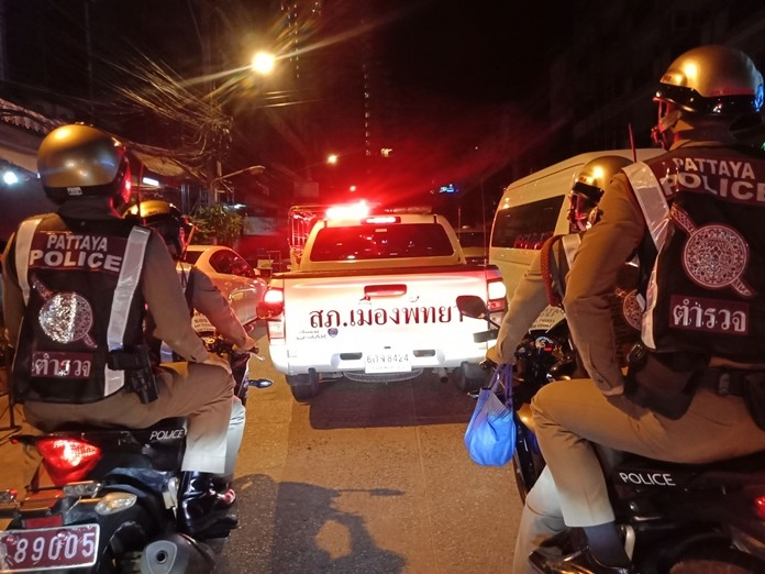 Officers head out on a dawn patrol of the city's main entertainment areas and known late-night drinking spots to ensure establishments were following the law and obeying permitted opening times.