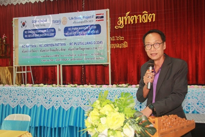 PP Vutikorn Kamolchote, RC of Jomtien-Pattaya, is the chief coordinator of the Global Grant project in Chonburi.