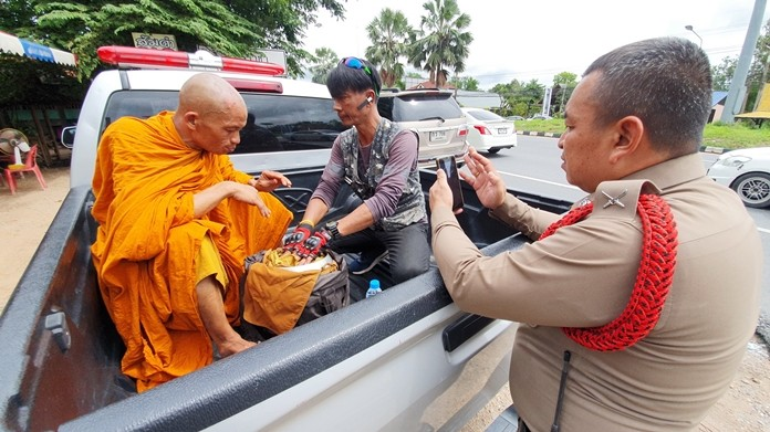 Sittichai Tansuwan has been detained for purporting to be a monk and soliciting alms from passers-by.
