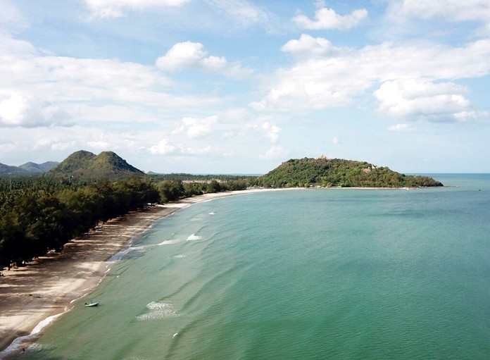 Ban Krut beach in the Prachuap Khiri Khan boasts one of the cleanest and quietest stretches of white sand within driving distance of the capital. (AP Photo/Nicole Evatt)