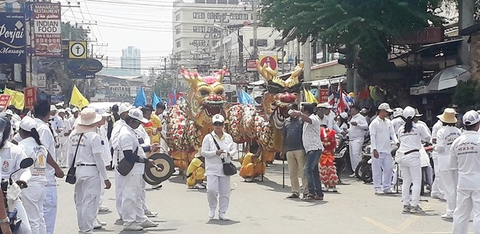 The annual Vegetarian Festival is being held this week throughout Thailand. The festivities began locally last weekend with a parade and ceremony to invite Chinese gods to the party. The 10-day event hosted by the Sawangboriboon Thammasathan Foundation at the Sein Sua Vegetarian Temple in Naklua, continues until Oct. 8. During the week, participants are encouraged to eat only vegetables and vegetable products and eschew all meat, dairy and seafood, as well as refrain from killing any animals.