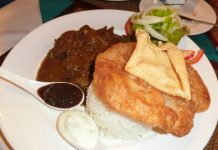 Indian lamb curry received the highest commendation.