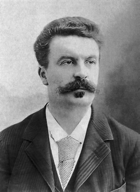 Writer Guy de Maupassant in 1888