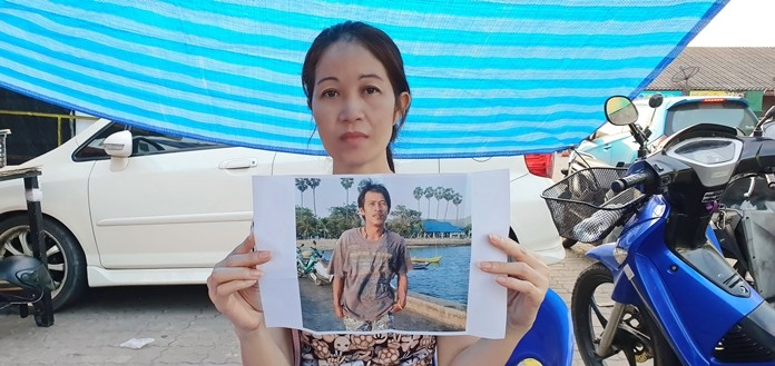 Kalong Konan is desperately reaching out to authorities to keep trying to find her husband lost at sea.