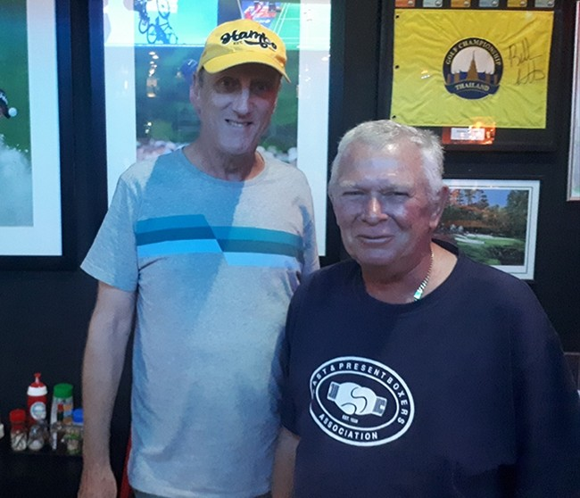 L to R: Winner Bill Steinmann with Steve Younger.