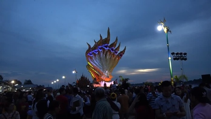 The Naga fireball phenomenon occurs every year on the 15th day of the waxing moon of the 11th lunar month. This year, it fell on October 13, 2019.