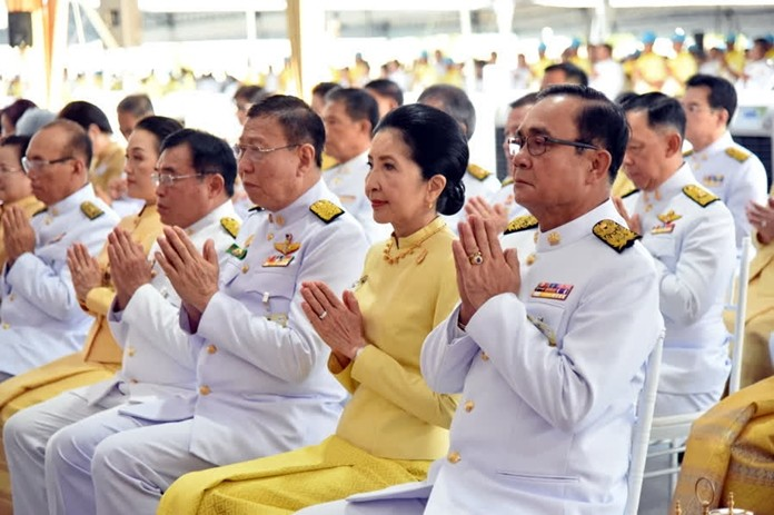 In Bangkok, Prime Minister Prayut Chan-o-cha, cabinet ministers and the people conducted alms-giving and merit-making ceremonies on the occasion of the anniversary of the passing of His Majesty the late King Bhumibol Adulyadej the Great, at Sanam Luang.