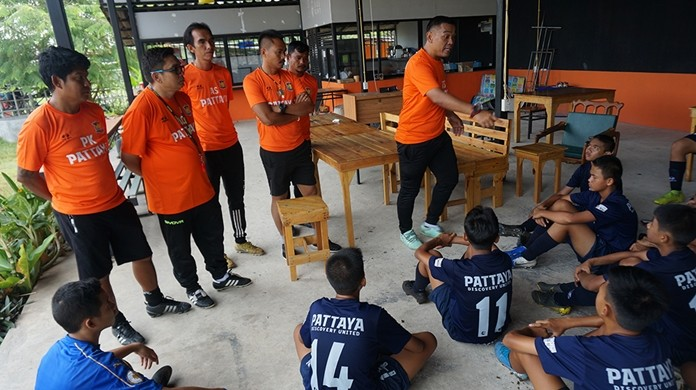 Pipat Tonkanlaya and Adisak Chuepudee look for budding football stars to continue on to bigger and better things, perhaps even someday joining the Thailand National Team.