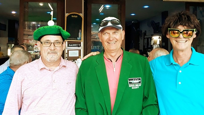 Winner A flight, Mark Efendie, with Brock Jensen (L) and Barry Horman (R).