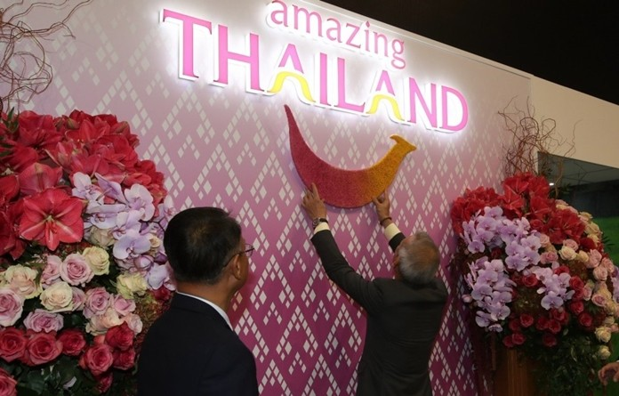 H.E. Mr. Phiphat Ratchakitprakarn, Minister of Tourism and Sports, officially opened the Thailand Pavilion at the WTM 2019.