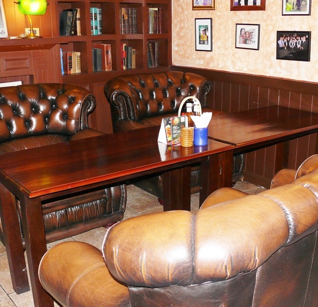 Jameson's still has the 'library' with large Chesterfields.