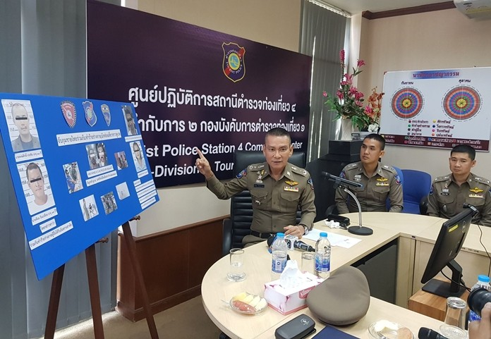 Police arrested two men who confessed to attacking a Kuwaiti man, but also put the victim's friend and Thai girlfriend behind bars on drug charges.