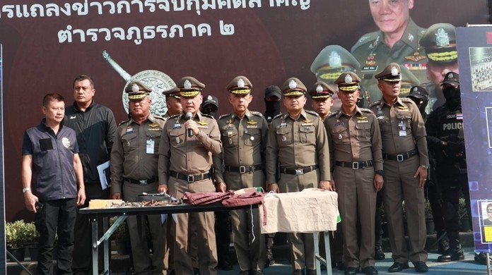 Assistant national police chief Pol. Lt. Gen. Satawat Hirunburana and top officers from Chonburi and Sa Kaeo, where the escapees were captured, outlined the elaborately planned breakout at a Nov. 7 news conference.