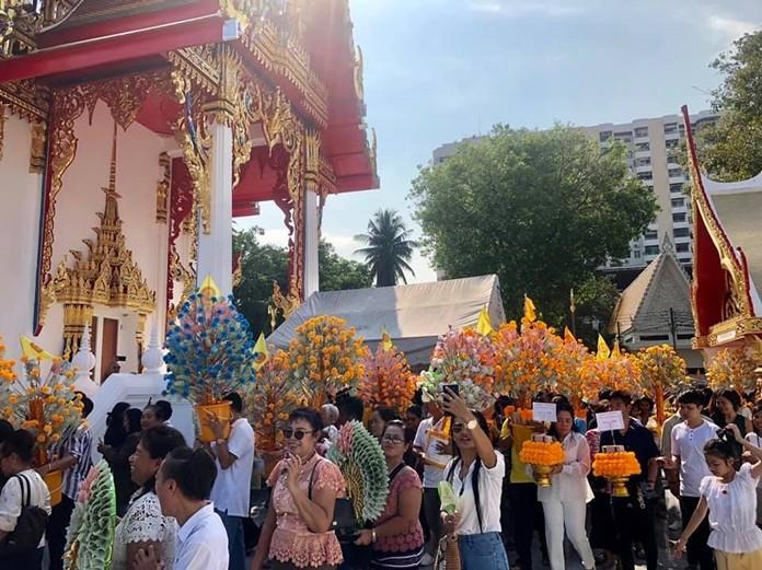 Chaimongkol Temple raised more than 16 million baht during its annual Kathin festival.