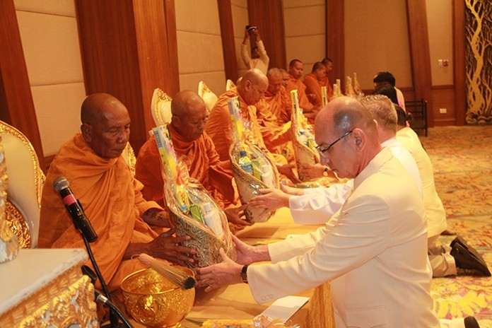A religious ceremony with monks from Nongyai Temple was performed at the Utopia Suite which included chanting and the giving of offerings.