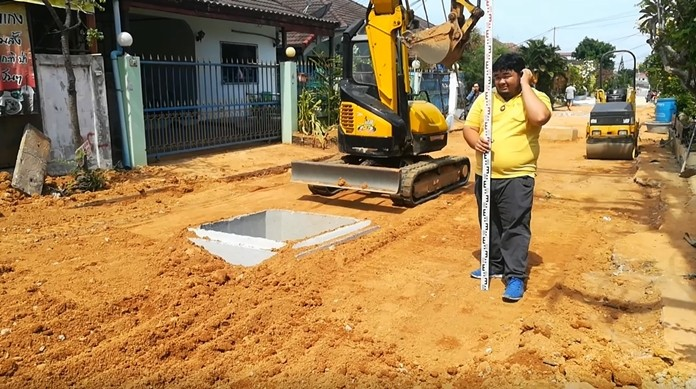 Only 20 percent of the roadwork in East Pattaya's Nakpakdee Village is left and, once complete, flooding in the village should become a thing of the past.