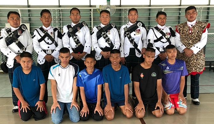 The Gurkhas were introduced to the sport of Goalball.