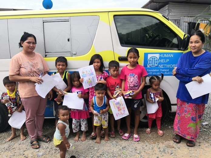 The HHNFT outreach team give children an education and teach them how to stay safe.