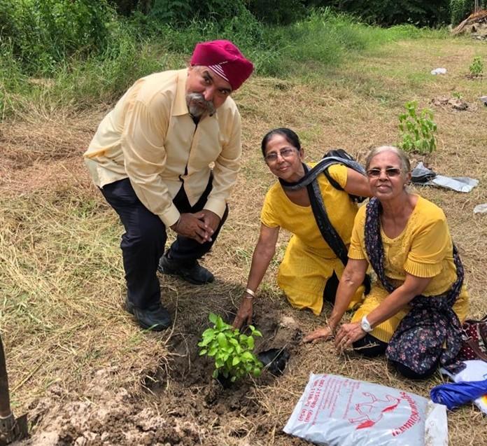 The Pattaya Sikh community pay homage to Guru Nanak make by planting trees.